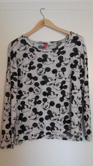 Feinstrick Pullover, Disney Print, Übergangs Pullover, Oversize