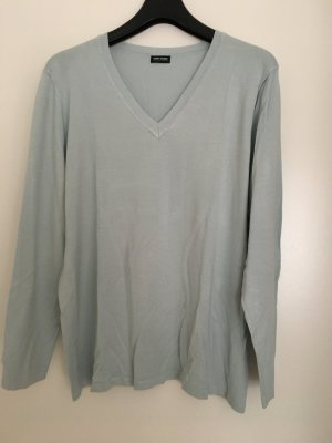 Feinstrick-Pullover himmelblau