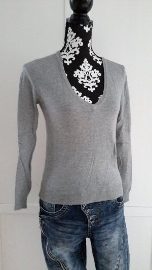 Feinstrick Pullover in grau