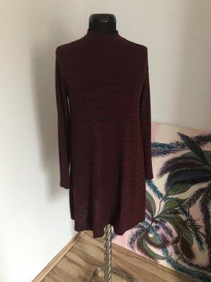Feinstrick-Pulloverkleid mit Melange-Effekt
