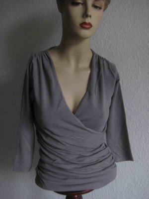 Feinstrick-Shirt 3/4 Arm von Zara in Grau - basic Style