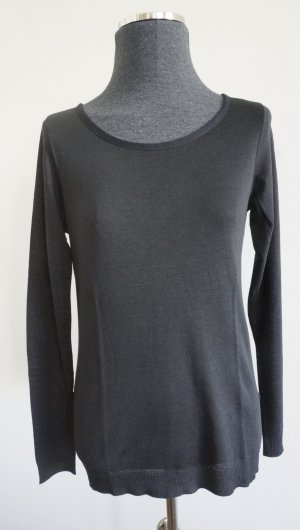 Feinstrick-Shirt mit Schleife hinten, schwarz Gr. S