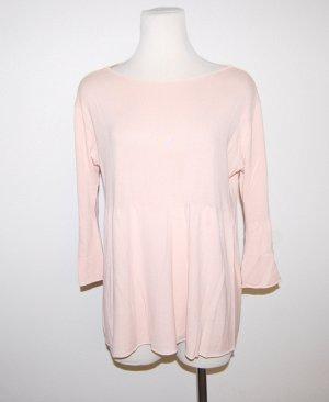 Feinstrick Shirt - Tunika mit Trompetenärmel Made in Italy Gr.M