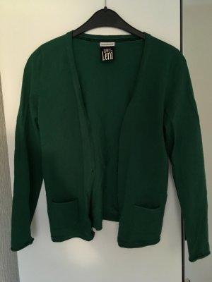 Feinstrickcardigan grün