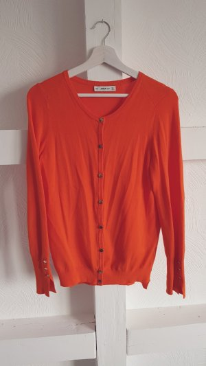 Feinstrickjacke Orange Zara