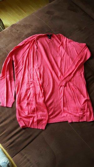 Feinstrickjacke Pink/Koralle
