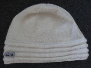 Cappello a maglia bianco sporco Lana