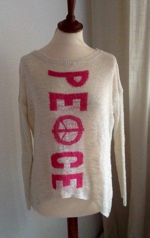 0039 Italy Maglione lavorato a maglia bianco sporco-rosa Viscosa