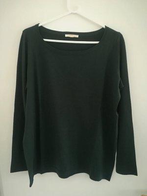 Esprit Jersey de cuello redondo verde oscuro