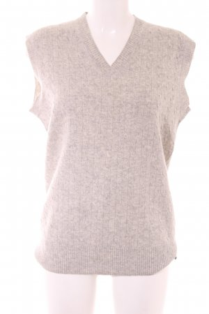 Fine Knitted Cardigan oatmeal-light grey flecked casual look