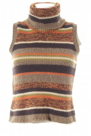 Fine Knitted Cardigan striped pattern casual look