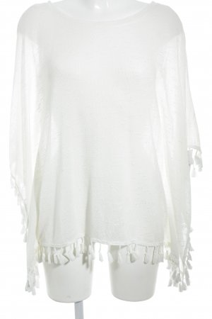 Fine Knitted Cardigan natural white casual look