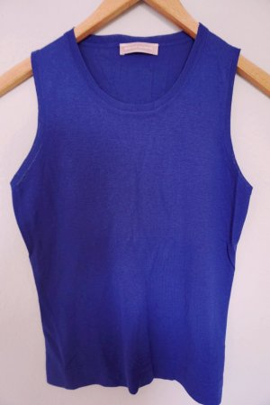 Bruno Manetti Knitted Top dark blue silk