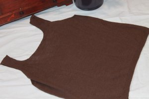 Cárdigan de punto fino marrón oscuro