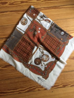 Feliciani Vintage-Tuch braun weiss Carré