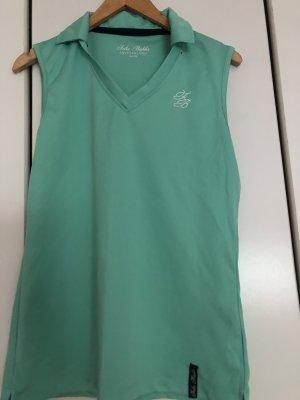 T-shirt col en V vert menthe-turquoise