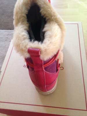 Aigle Boots bright red