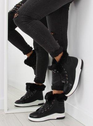 Fell Boots ganz NEU Damen Schuhe Schnürstiefel Schnürschuhe Schnürsneakers Kunstfell KB-039 Fake Fur warme Damen Schuhe Größe 38 39 40