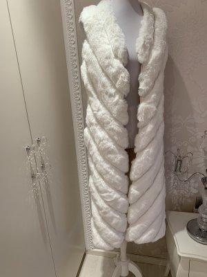 Cappotto in eco pelliccia bianco