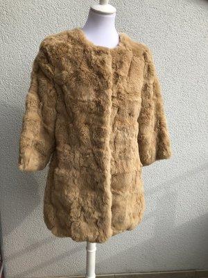 Chaqueta de piel camel-marrón claro Piel
