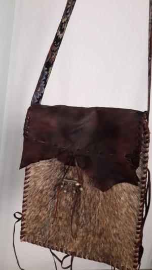 Fell - &  Leder-Schultertasche von doenya