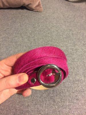 Fell- /Ledergürtel pink, Gr. M
