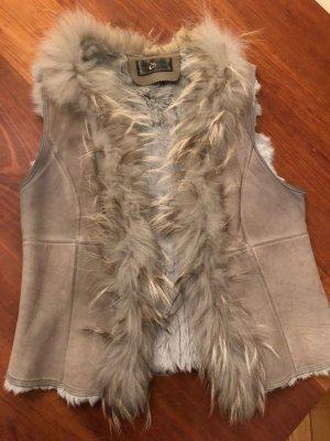 Style & Butler Smanicato di pelliccia argento-grigio chiaro Pelliccia