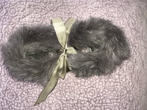 Fur Gloves grey lilac fur