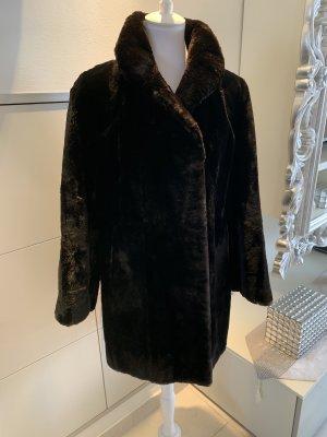 Fur Jacket black-dark brown