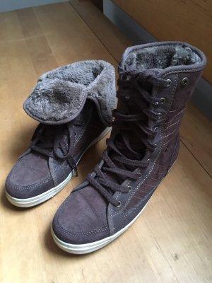 Fell Sneaker in dunkelbraun