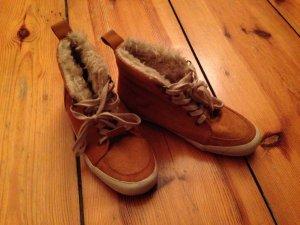 Fell Sneakers // ocker farbend // NEU