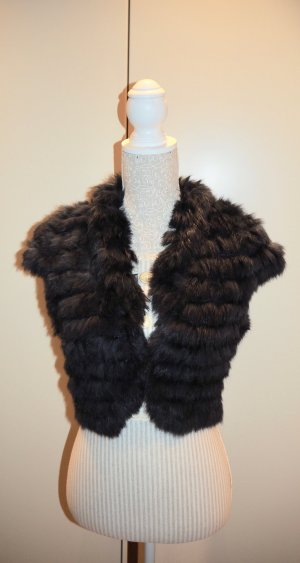 Young Couture by Barbara Schwarzer Fur vest anthracite fur