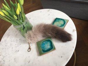 Fellanhänger Taschenanhänger Fuchsschwanz