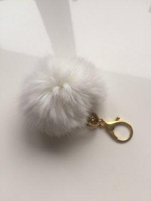 Porte-clés blanc-doré