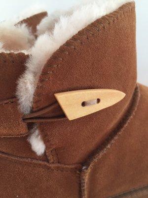 Botas de nieve marrón Gamuza