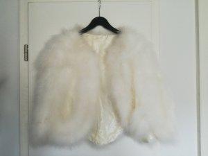 fellcape/Federcape für Brautkleid oder Festkleid wollweiß