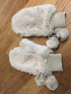 H&M Mittens light grey