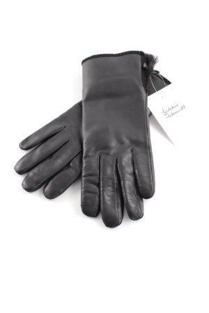 Fur Gloves black elegant