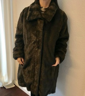 Alfredo Pauly Fake Fur Coat black brown