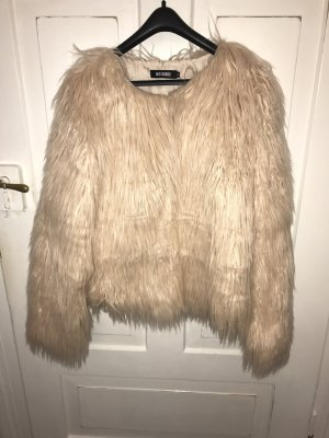 Missguided Fur Jacket nude-cream
