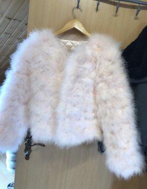 Giacca di pelliccia rosa-rosa