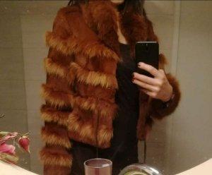Giacca di pelliccia marrone