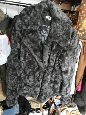 Fur Jacket dark grey
