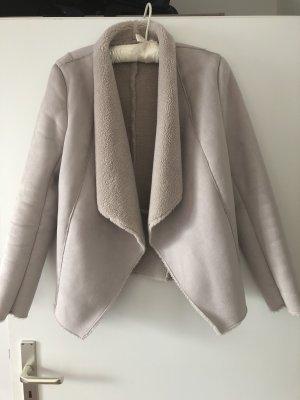 Gina Tricot Giacca di pelliccia beige chiaro