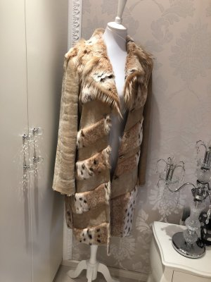 Felljacke beige Animalmuster Animal-Look