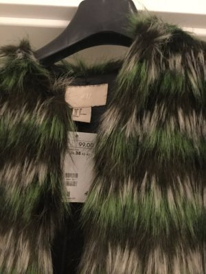 Felljacke Fellmantel H&M Studio Collection, kein Kenzo, Gr. 38, M, Fake fur, neu