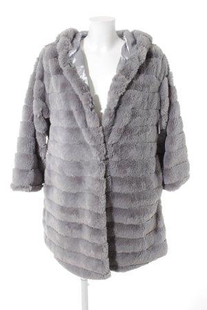 Fur Jacket grey quilting pattern elegant