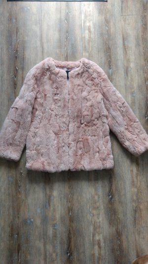 TwinSet Simona Barbieri Fur Jacket light pink fur