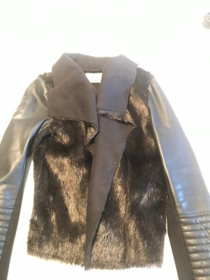 Orsay Giacca di pelliccia nero Pelliccia ecologica