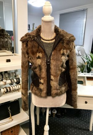 MNG Fake Fur Jacket multicolored